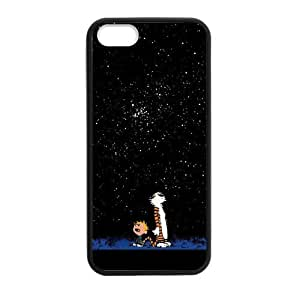 Calvin and Hobbes Stars Case cover for iPhone 5 5s protective Durable black case