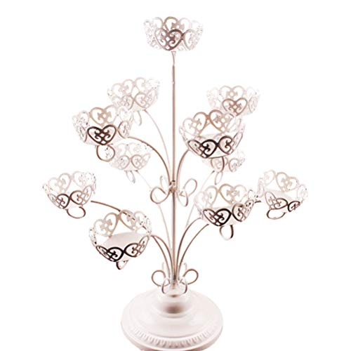 Vosarea Cupcake Stand 3-Tier 11 Cup Iron Cake Display Stand Decoration Wedding Birthday Partyfor Wedding Birthday Party by Vosarea (Image #9)
