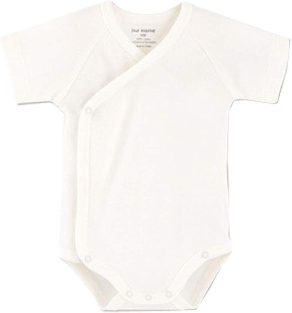 Blueleyu Unisex-Baby Short Sleeve Onsies Cotton Baby Bodysuit Pack Cardigan Onsies Infants
