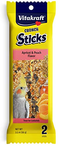 Vitakraft Cockatiel Treat Sticks - Apricot and Peach - 3.5oz