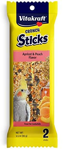 Sticks Honey Bird - Vitakraft Cockatiel Treat Sticks - Apricot and Peach - 3.5oz