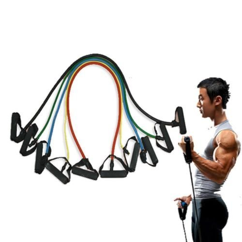 5 Pieces High Quality Resistance Bands Set Home Fitness Work