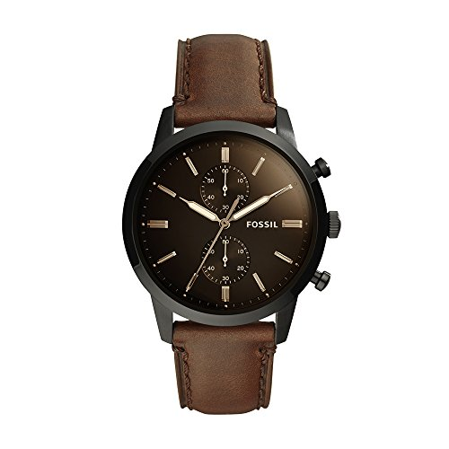 Fossil Men's 'Townsman' Quartz Stainless Steel and Leather C