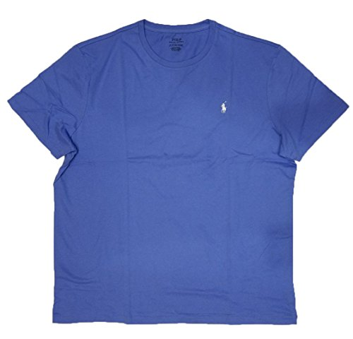 Polo Ralph Lauren Mens Classic Fit Solid Crewneck T-Shirt (Small, Blue) ()