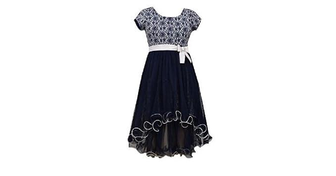 Bonnie Jean - Vestido - para niña Azul Azul Marino