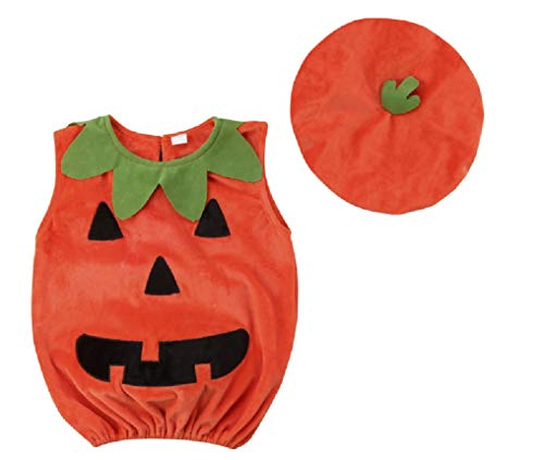 2 Piece Jack O Lantern Halloween Costume from Chunks of Charm (2T) ()