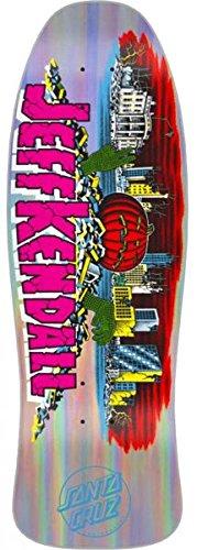 Santa Cruz Re-Issue Skateboard Deck Kendall Pumpkin Silver Prismatic 10