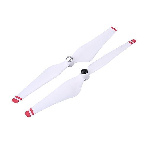 2 Colores 2 Pares 9450 CW CCW H/élices Accesorio de Palas Compatible para dji Phantom2 3 Quadcopter Drfeify H/élice Autoblocante Blanco + Rojo
