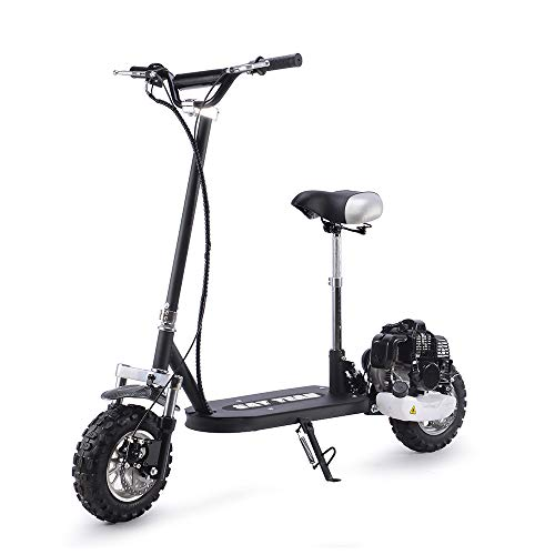 SAY YEAH Gas Scooter 49cc 2 Stroke Bike Stand and Seat Powerful Adult Scooter - Scooter Stroke 2