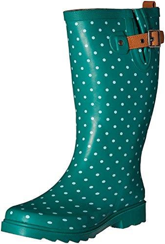 Chooka Damen Tall Rain Boot Klassischer Dot Jade