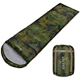 Sleeping Bag - 4 Seasons Warm Cold Weather Lightweight, Portable, Waterproof Sleeping Bag with Compression Sack for…
