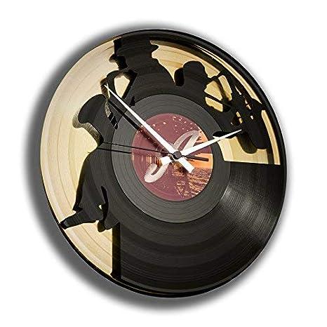 Reloj Adhesivo/Vinyl Clock DISCOCLOCK-DD052GB-SAX