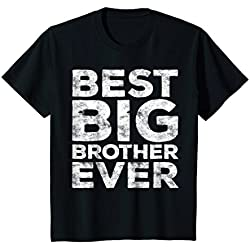 Kids Best Big Brother Ever T-Shirt Funny Gift 6 Black