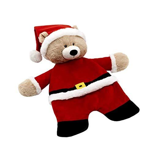 - Baby Ganz 18 Inch Santa Claus Bear Flatsie Flat-A-Pat Plush Blankie (BGX11620)