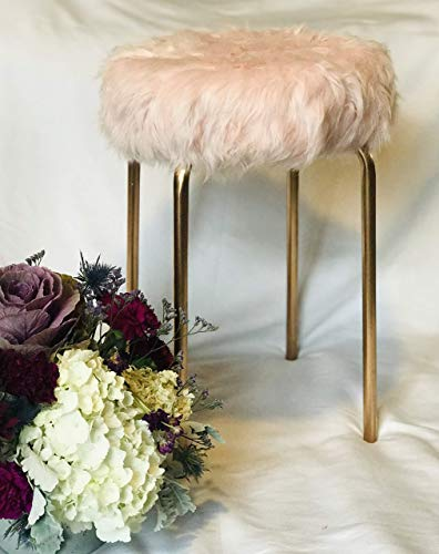 - Faux Fur Vanity Stool