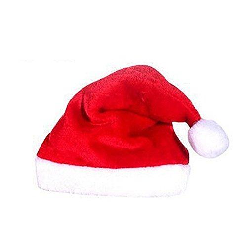 Jutao Plush Santa Claus Hat Comfort Liner Christmas Halloween Costume For Kids (Santa Claus Cap)