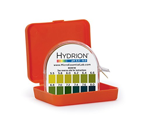 Micro Essential Lab MF-1606 Hydrion Microfine Short Range pH Test Paper Dispenser, 5.5 – 8.0 pH, Double Roll
