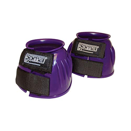 Roma Double Tape PVC Ribbed Bell Boot - Color:Purple Size:Small
