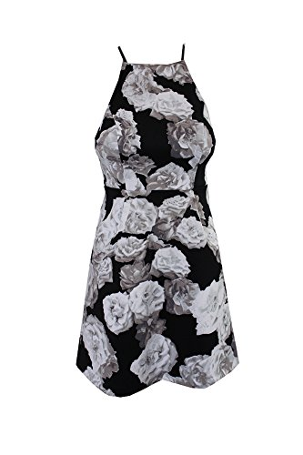 BCBGeneration Women's High Neck Dress, Black/White, 8