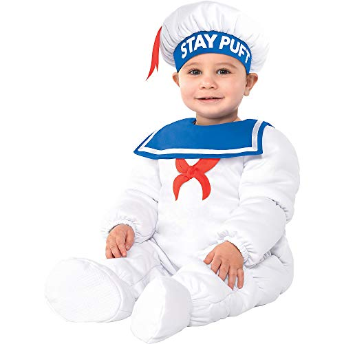 Baby Stay Puft (Party City Padded Stay Puft Marshmallow Man Halloween Costume for Babies, Ghostbusters, 0-6 Months, with)