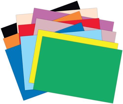 Roselle Vibrant Construction Paper, 50 count, 12 x 18 Inches, Assorted (CON00121850)