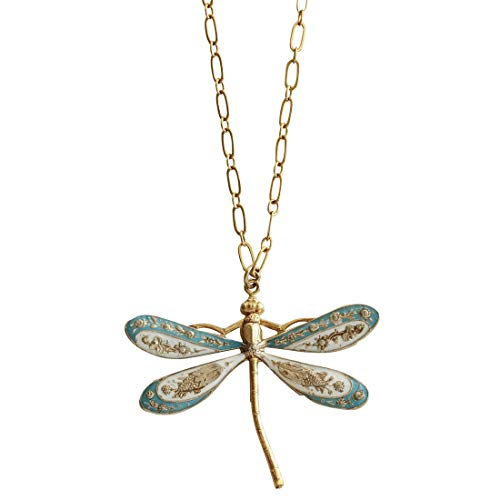 - Catherine Popesco Goldtone Dragonfly Enamel Necklace, 16