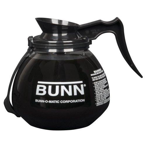 Coffee 64 Oz Decanter Black (Bunn 42400.0203 64 oz. Glass RFID Decanter with Black Handle - 3/Case)