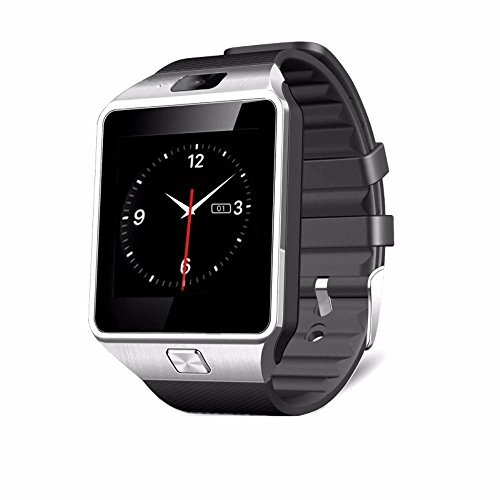 DXABLE DZ09 Bluetooth Smart Watch - WristWatch Digital Sport Watches - Support Support Message Notification TF Card Pedometer Sleep Monitor for IOS Android Apple iphone 4/4S/5/5C/5S Android Samsung S2/S3/S4/Note 2/Note 3 HTC Sony Blackberry for Sport Running Walking Women Men Child (Silver)