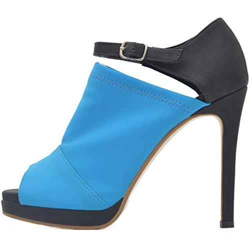 Roselight Straps Pumps Sandalen in 3 Farben Schwarz-Blau