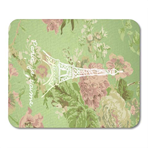 Aikul Mouse Pads Taime Paris Je Aime Vintage Floral Tower Love Mouse Mat 9.5
