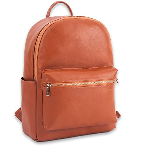 Kaydee Baby Unisex Faux Leather Tote Backpack Bag Diaper Changing Pad - For Men and (Baby Faux Leather)