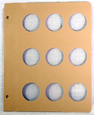 Dansco Blank Album Page for 39mm Coins