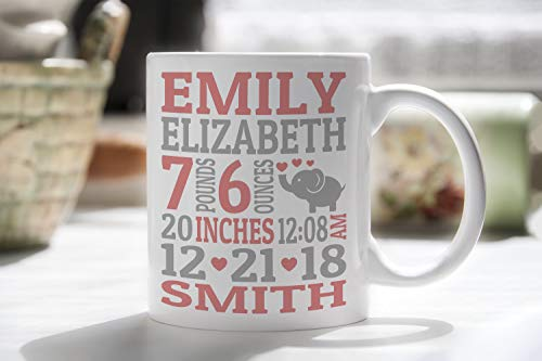 - Personalized Baby Birth Announcement Mug, Custom Birth Mug, Personalized Baby Mug, Custom Baby Announcement Mug, Cute Birth Mug, Custom Mug