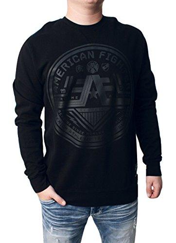 American Fighter Men's Wyoming Long Sleeve Tee Shirt Black Large