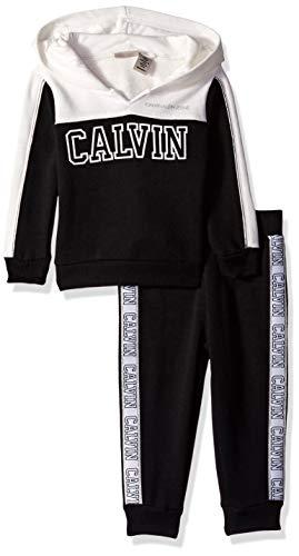 (Calvin Klein Baby Girls 2 Pieces Jog Set, Black, 12M)