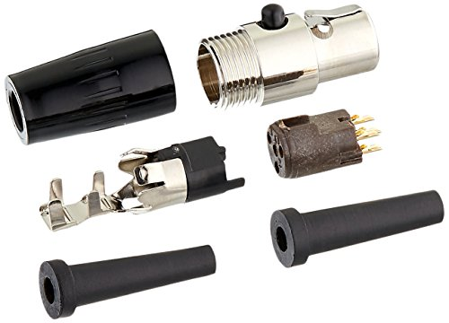 (Shure WA330 4-Pin Mini Connector (TA4F) Adapts Small-Diameter Microphone Cable to the Shure Body-Pack Transmitters)