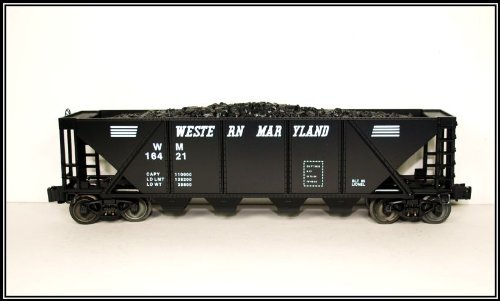 Lionel 6-16421 Western Maryland Hopper w/ Simulated Coal Load