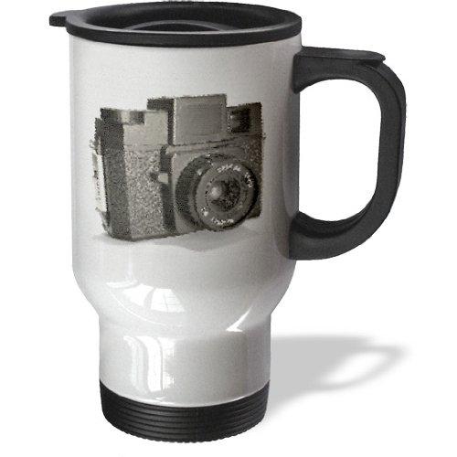 tm_20770_1 KIKE CALVO vintage camera collection - Picture of a Vintage plastic film camera - Travel Mug - 14oz Stainless Steel Travel Mug