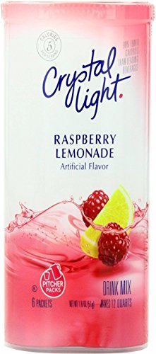 Crystal Light Raspberry Lemonade Drink Mix, 12-Quart 1.8-Ounce Canister (Pack Of 24) by Crystal Light