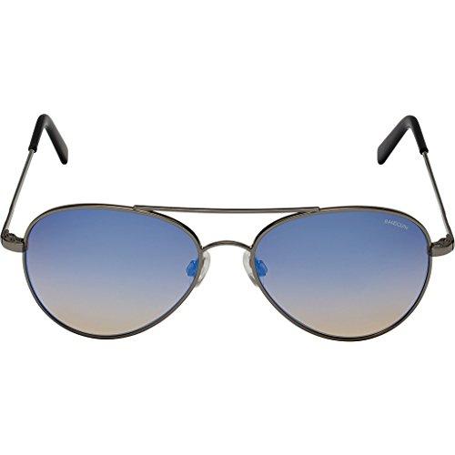Randolph Engineering Coronado Gun Metal Sunglasses | Oasis Metallic Nylon Ar Skull 57MM - Oasis Sunglass