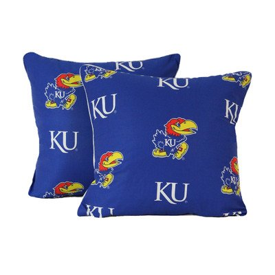 College Covers Kansas Jayhawks Decorative Pillow (Set of 2), 16 by 16