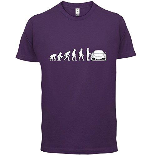 Evolution of Man - 911 Fahrer - Herren T-Shirt - Lila - M