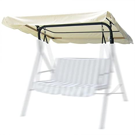 Outdoor Patio Swing   Canopy Replacement In Ivory