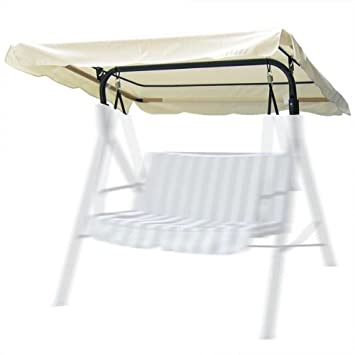 Amazon Com Outdoor Patio Swing Canopy Replacement In Ivory