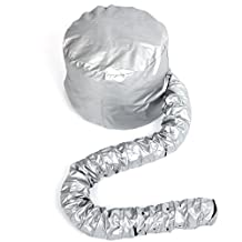 Portable Soft Hair Drying Cap Bonnet Hood Hat Blow Dryer Attachment (Silver)