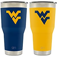 Simple Modern West Virginia University 30oz Cruiser Tumbler 2-Pack - Vacuum Insulated Stainless Steel Travel Mug - WVU Mountaineers Tailgating Hydro Cup College Flask