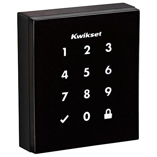 Kwikset 99530-002 Obsidian Slim Modern Electronic Touchscreen Keyless Deadbolt, Venetian Bronze