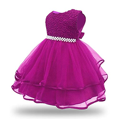 Baby Girl Princess Ball Gown Dress Lace Floral