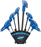 Park Tool PH-1.2 P-Handled Hex Wrench Set with Holder - 8pc Black/Blue, One Size