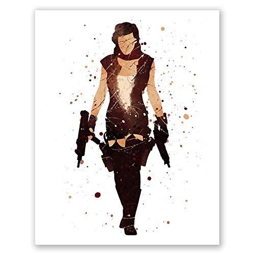 Resident Evil Poster - Movie Room Decor - Project Alice Wall Print - Game Posters (8x10) ()